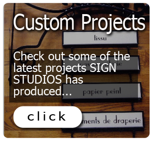 Our Sign Company in Wayne, PA, Does Custom Projects