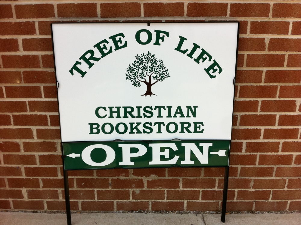 Tree of Life Christian Bookstore Site Sign