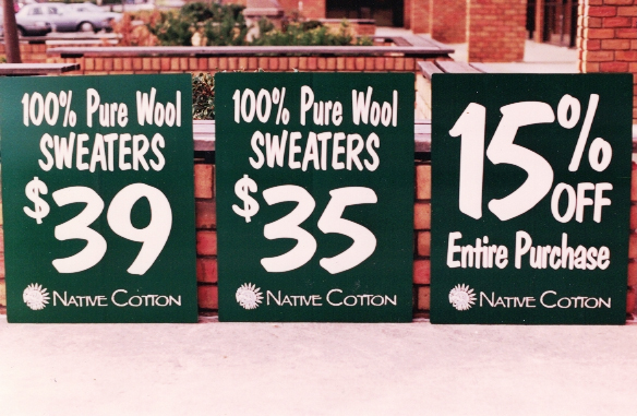 Native Cotton 2 Sign Studios