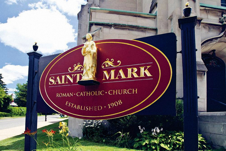 Saint Mark Post & Panel Sign Studios