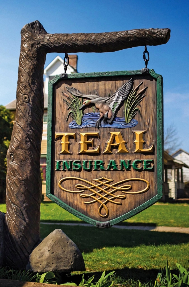 Teal-Insurance- Sign Studios