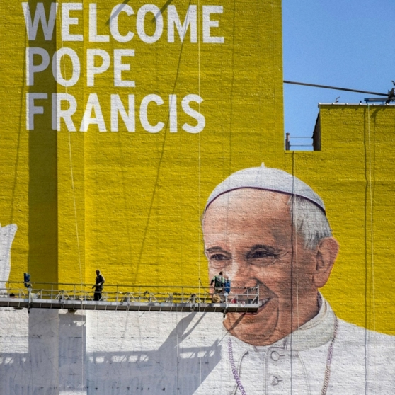 Welcome Pope Francis Sign Studios