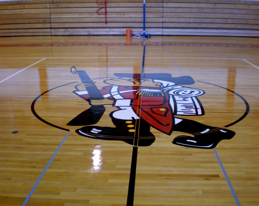 basketball-court-signs-school Sign Studios