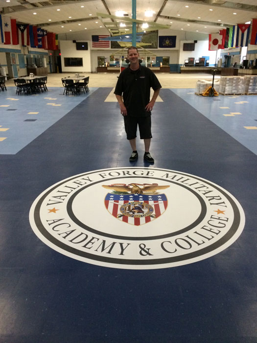 Valley Forge Military Academy Floor Graphic