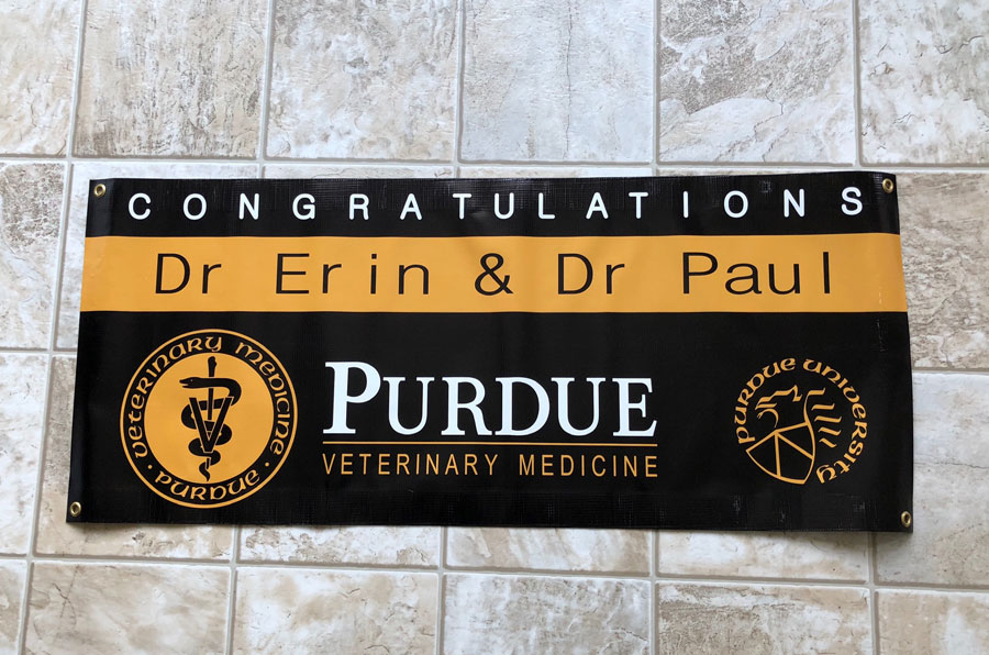 Prudue University Congratulations Banner