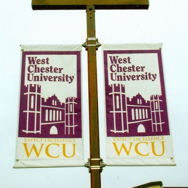 West Chester University Pole Banners