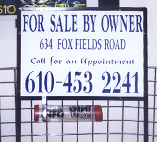 For Sale By Owner Site Sign