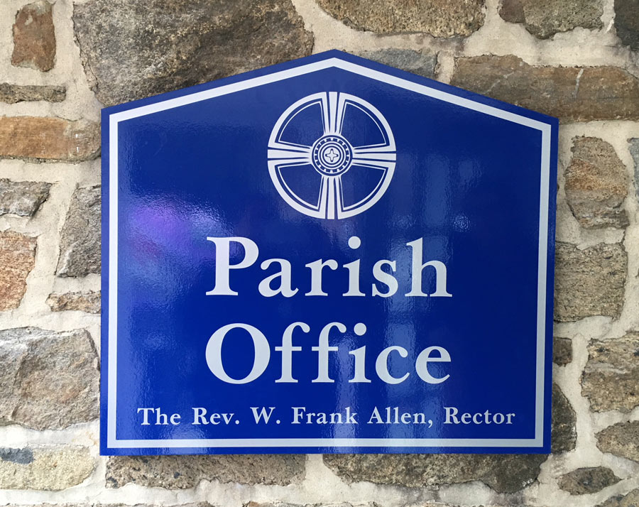 Parish Office Architectural Sign