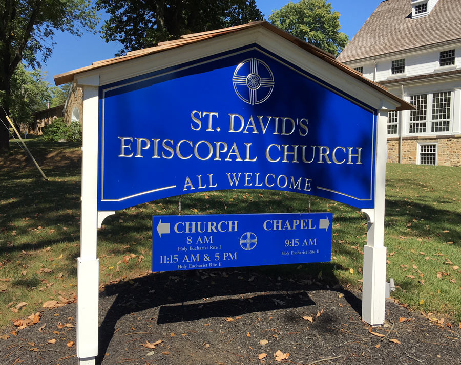 St. David's Episcopal Church Post and Panel