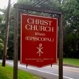 Christ Church Ithan Hanging Sign