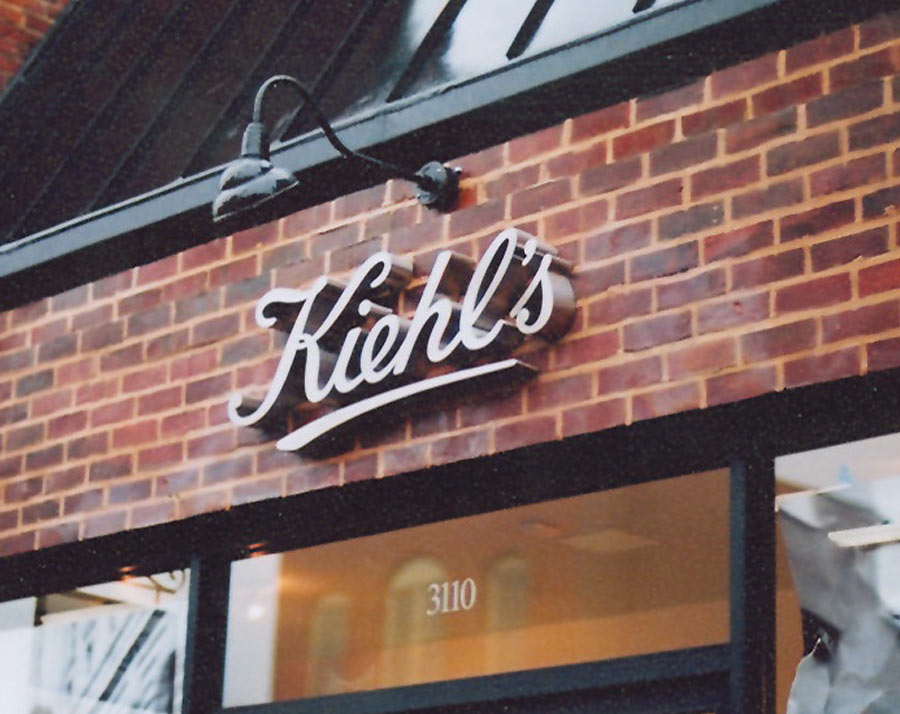 Kiehl's Dimensional Lettering on Brick