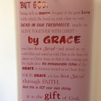 Etched Glass Bible Passage