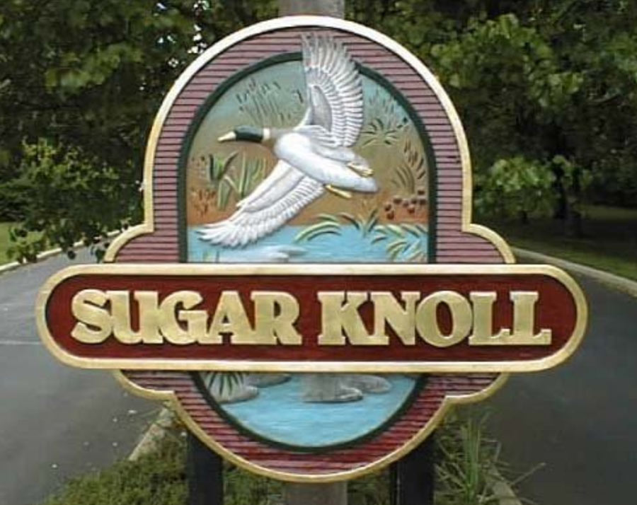 Sugar Knoll Redwood Sign
