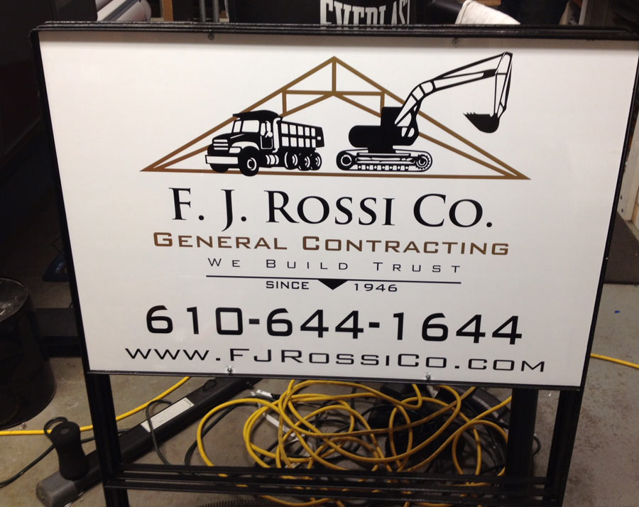 F. J. Rossi Co. Site Sign