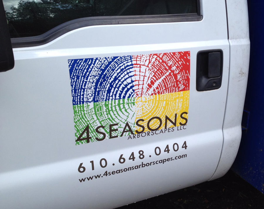 4 Seasons Vehicle Lettering closeup