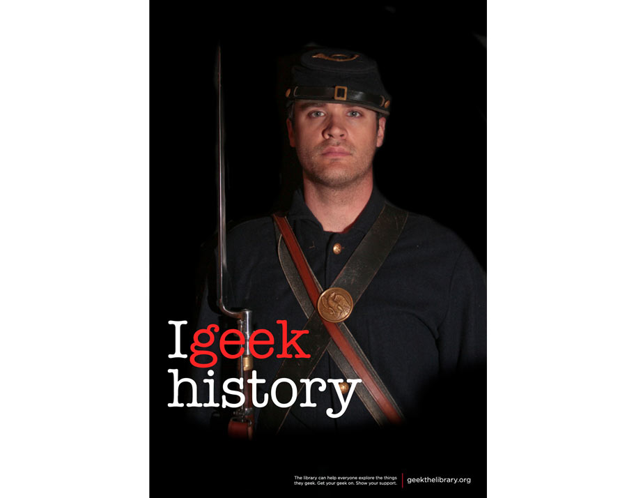 """Library """"I Geek History"""" Poster"""