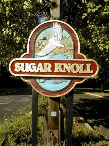 Sugar Knoll Redwood Sign