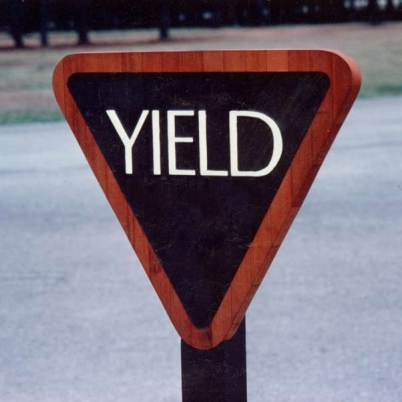 Redwood Yield Sign