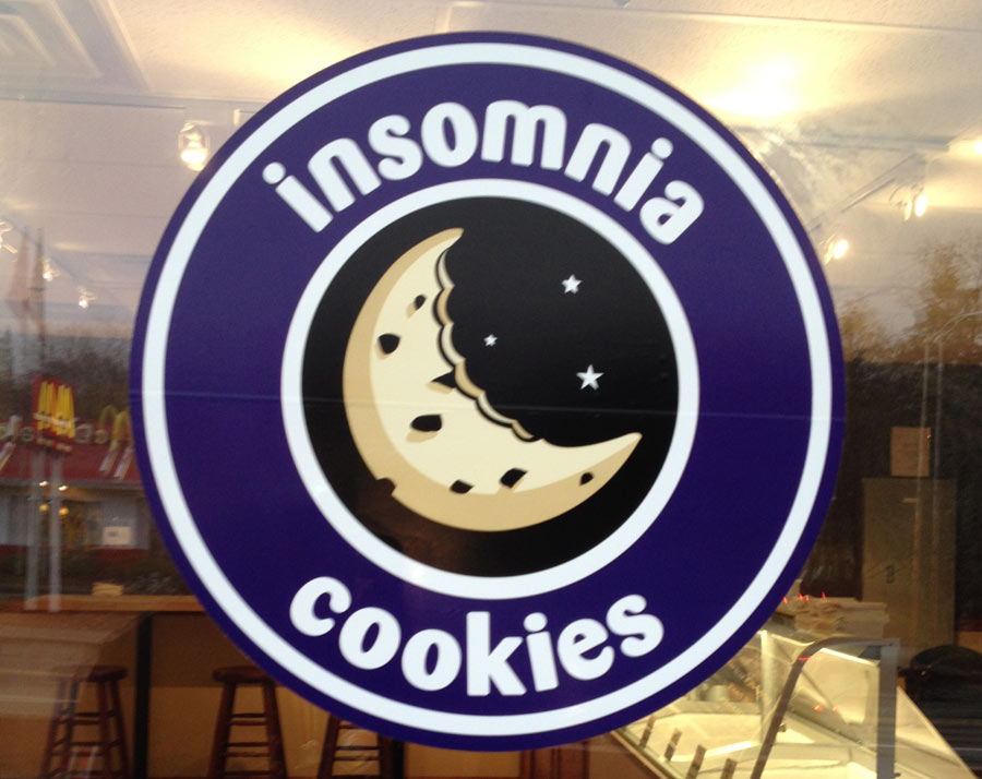 Insomnia Cookies Window Lettering