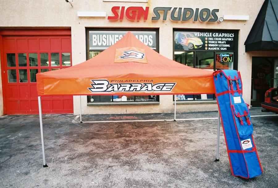 Delaware County Barrage Tent