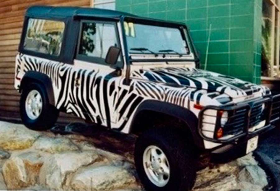 Zebra Vehicle Wrap