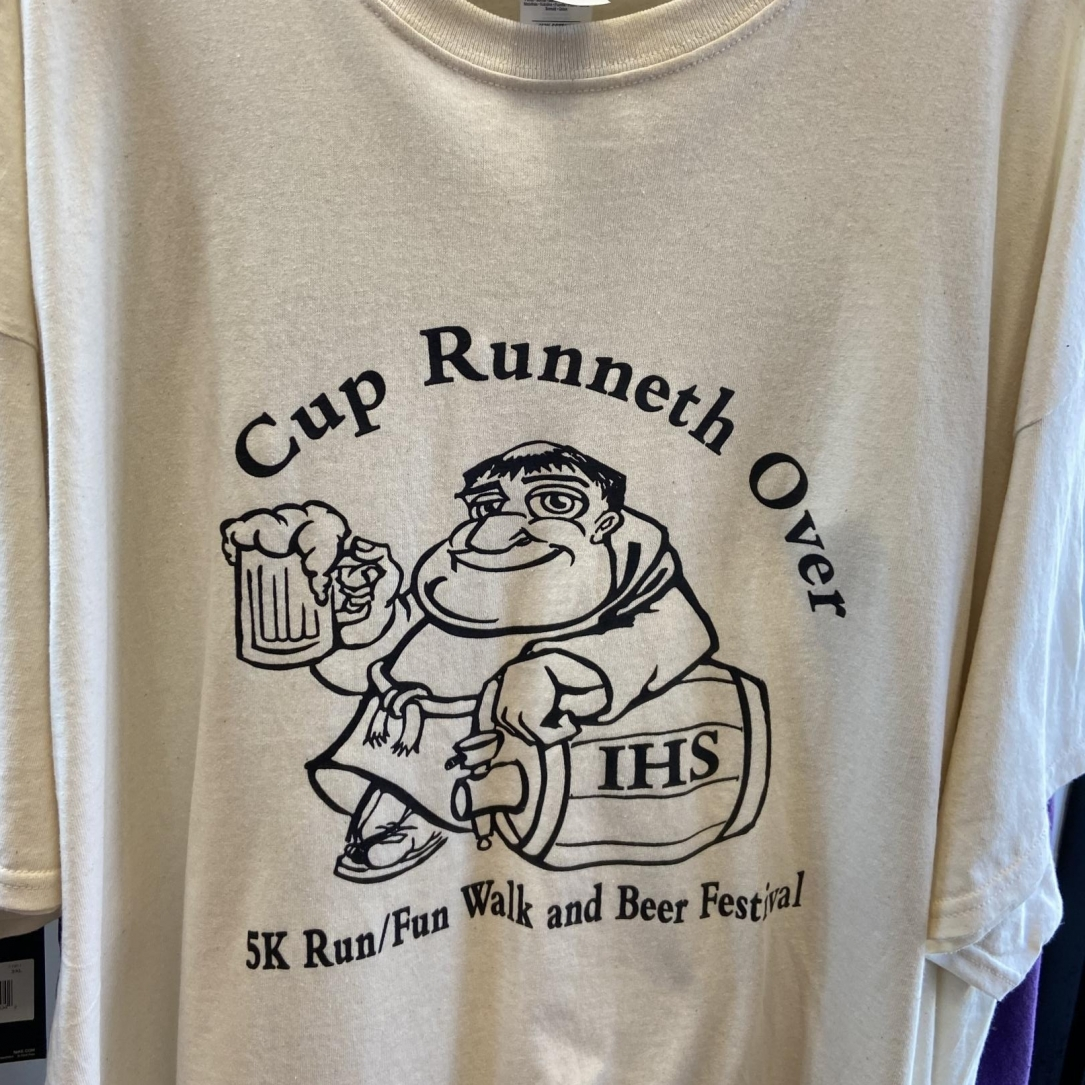Cup Runneth Over Screen Printed T-Shirt