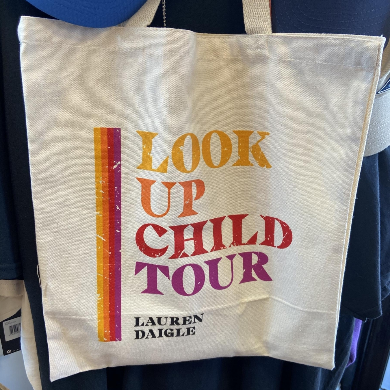 Look Up Child Tour Screen printed Tote Bag