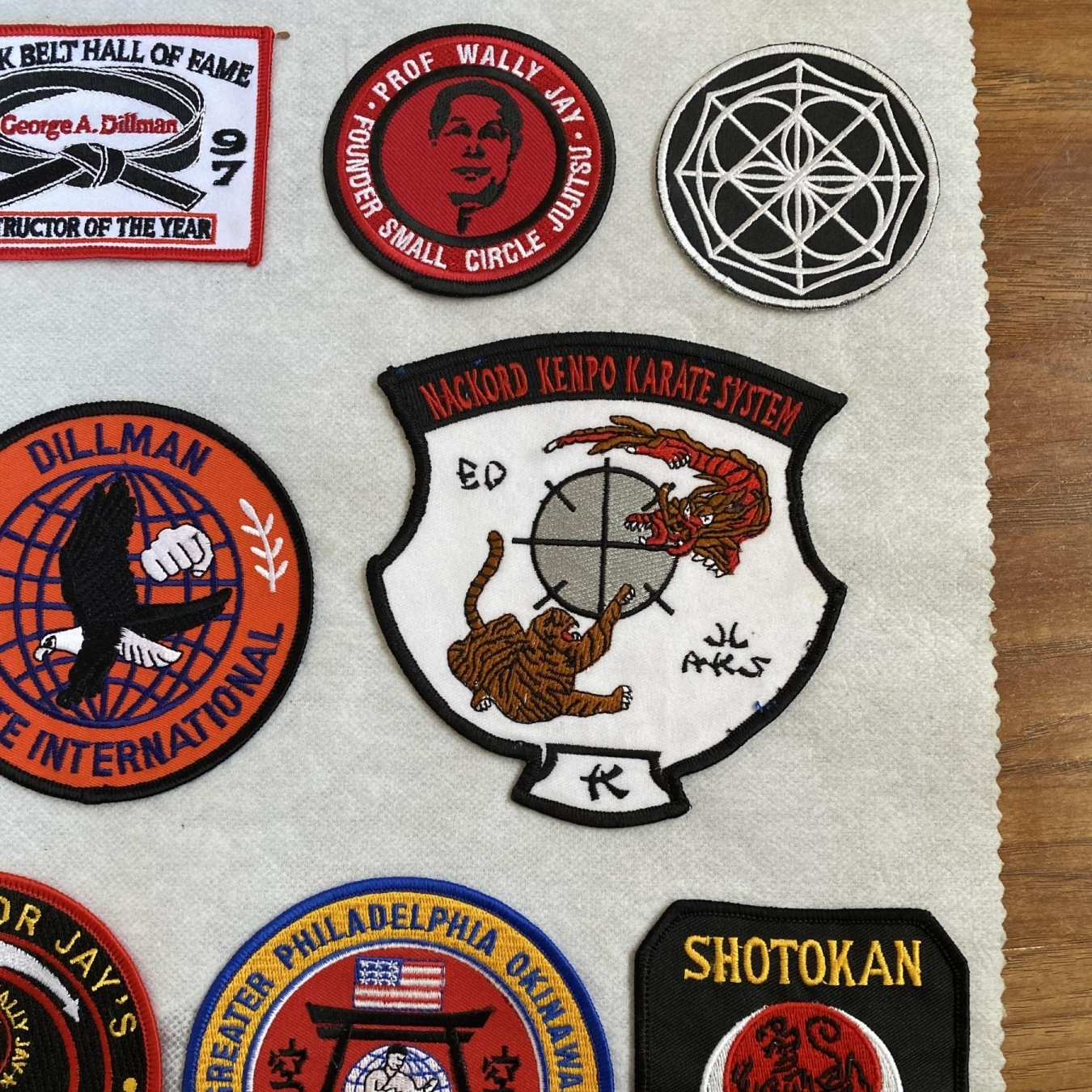 Karate Embroidered Patches Right Closeup