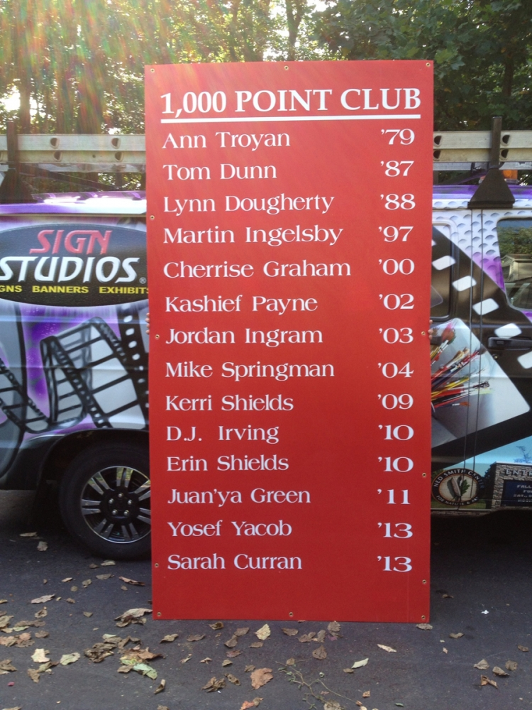 1000 Point Club schools Sign Studios