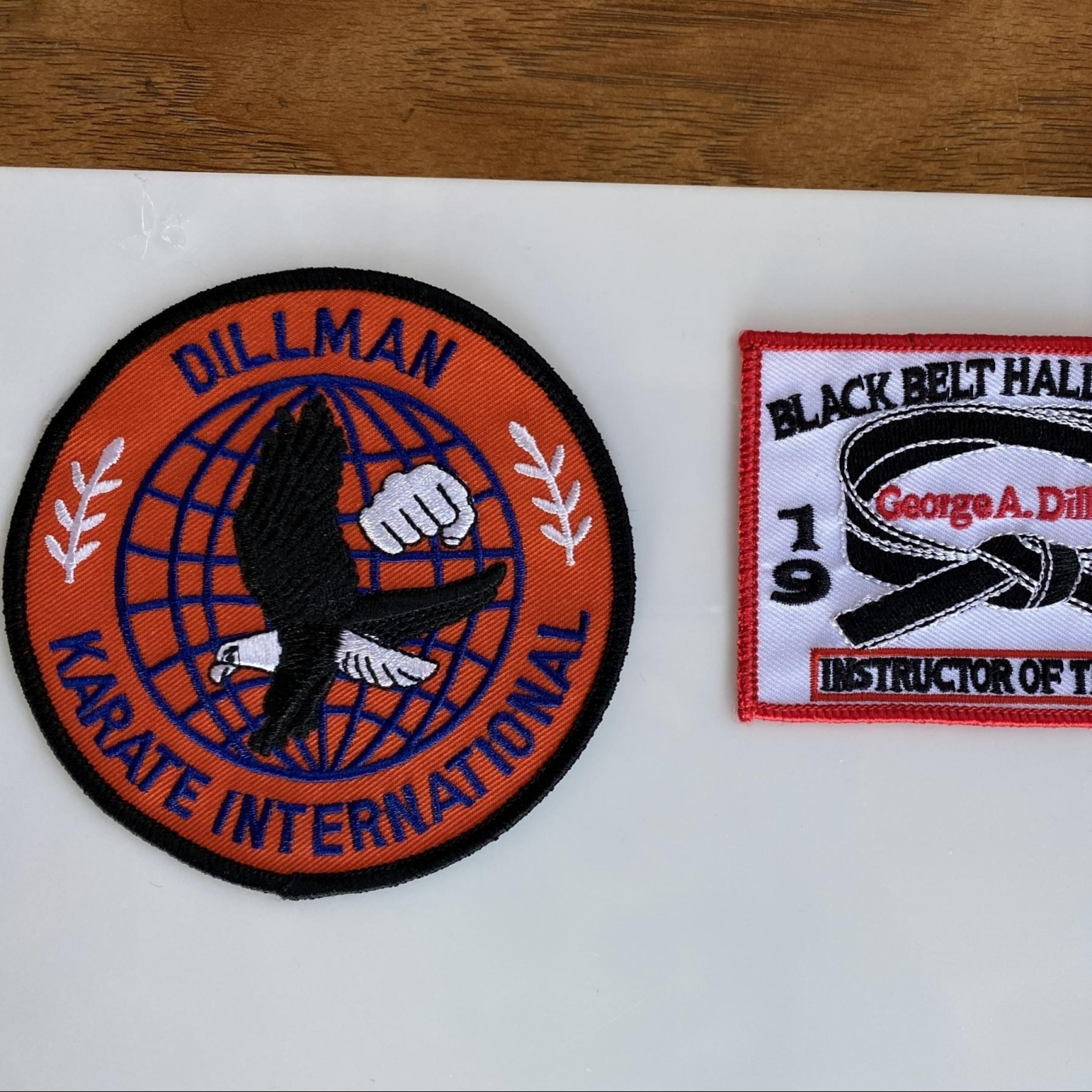Dillman Karate Embroidered Patches