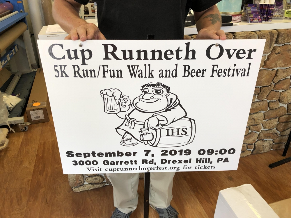Cup Runneth Over Site Sign