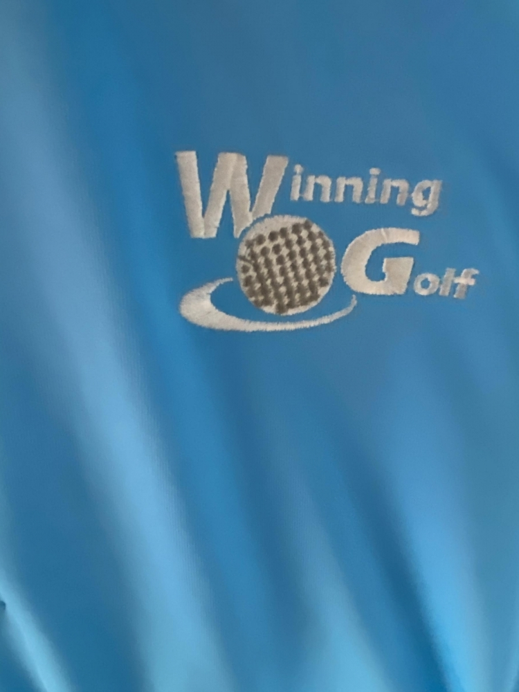 Winning Golf Embroidered Logo closeup