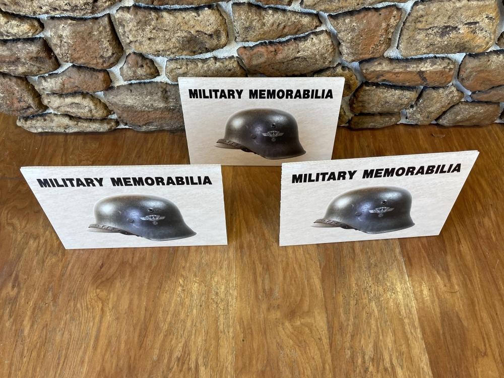 Gun Show Military Memorabilia Signs