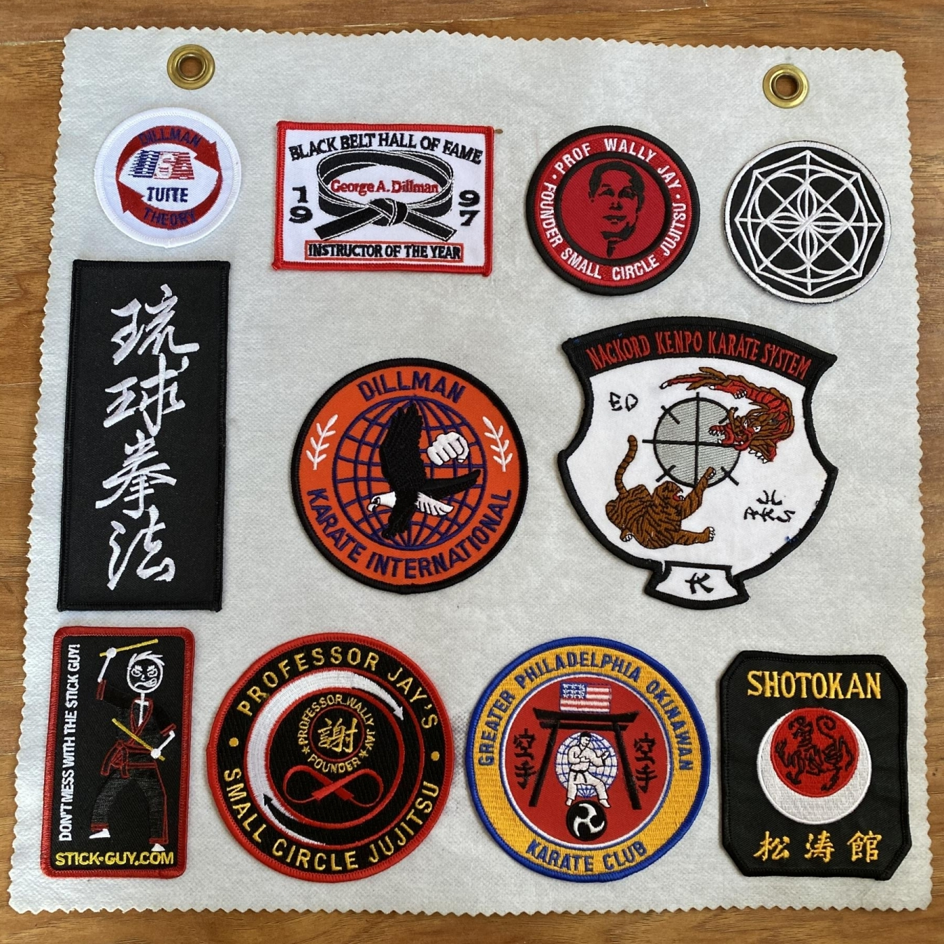 Karate Embroidered Patches