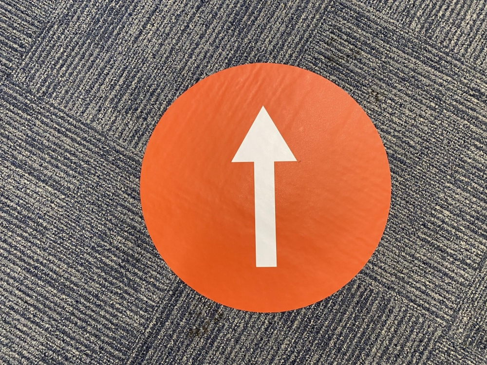 Straight Arrow Floor Sticker