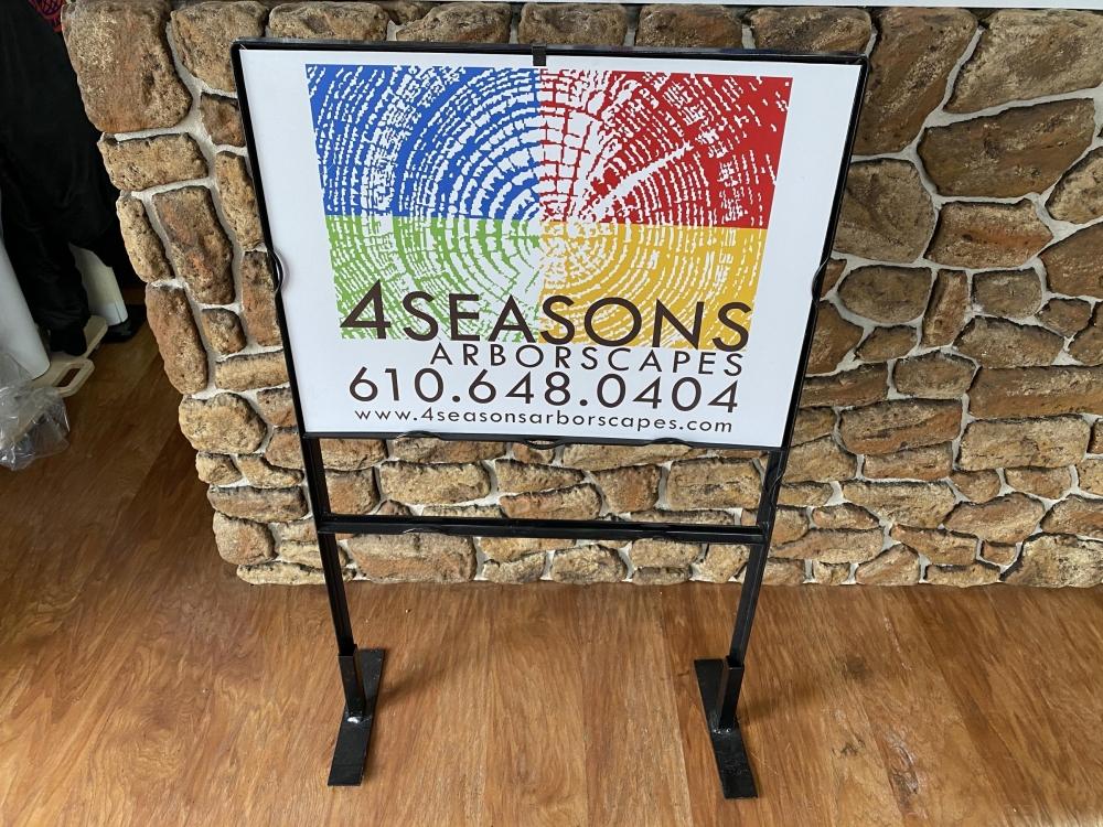 4Seasons Sign in Metal Frame