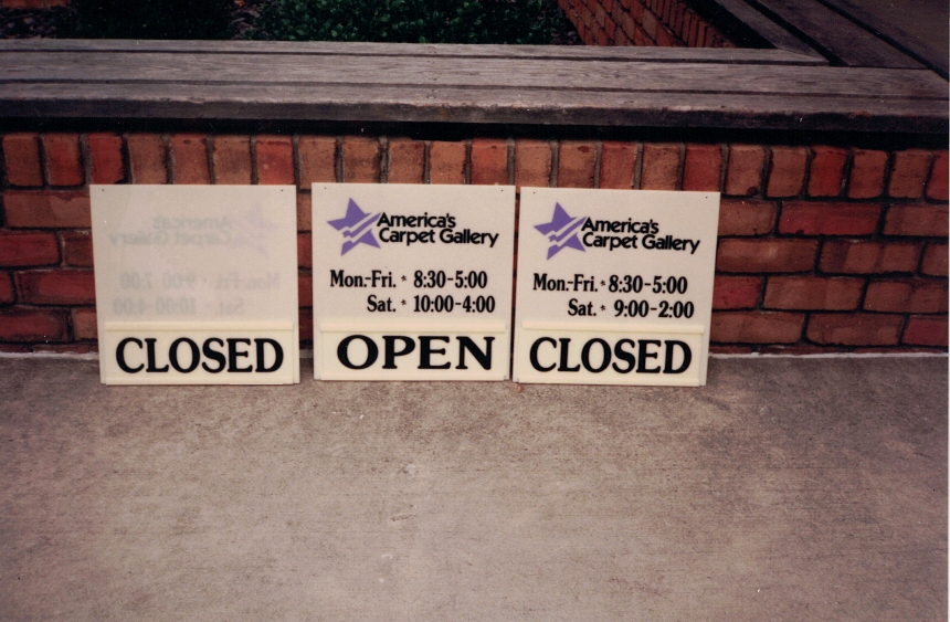 America's Carpet Gallery retail Sign Studios