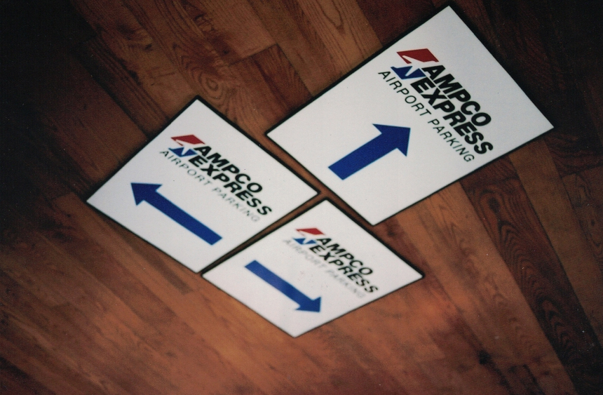 Ampco Express parking Sign Studios