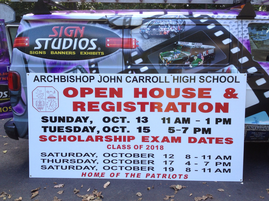 Archbishop Carroll schools Sign Studios