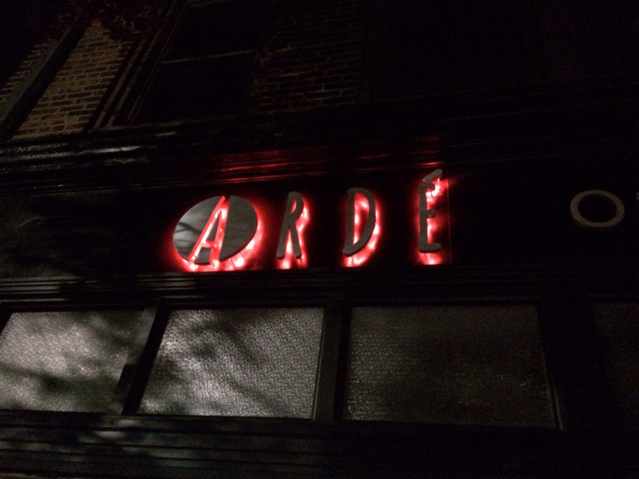 Arde 2 resturants Sign Studios