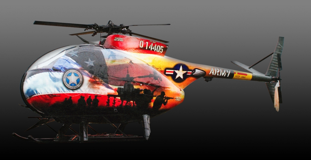 Army Helicopter left side copy Sign Studios