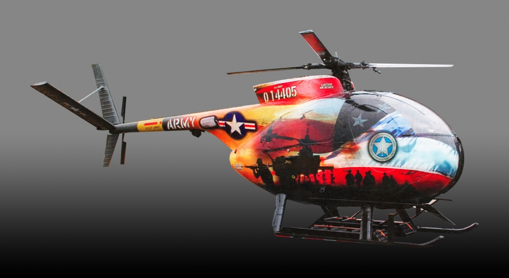 Army Helicopter right side Sign Studios
