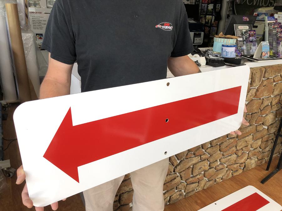 Arrows directional Sign Studios