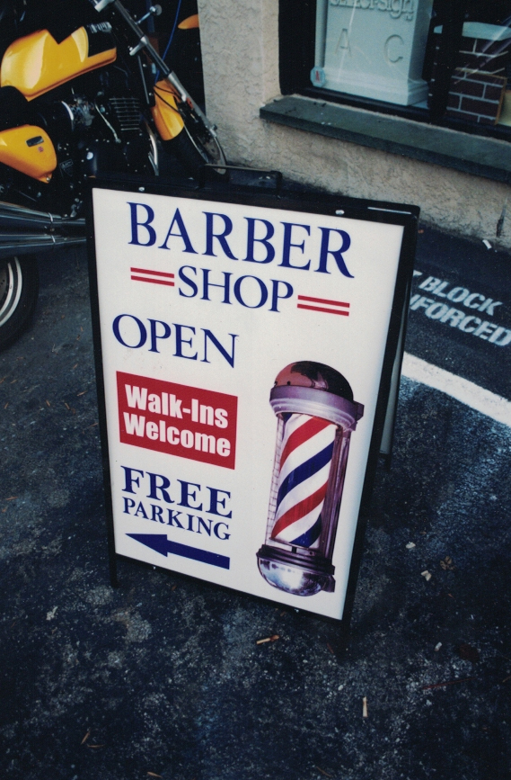 Barber Shop a-frame Sign Studios