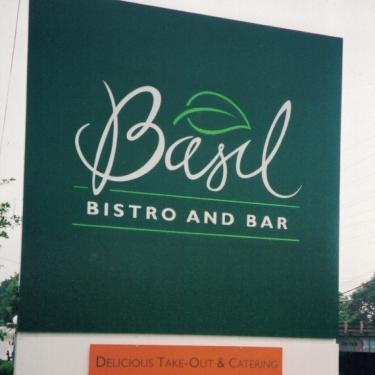 Basil Bistro restaurants Sign Studios