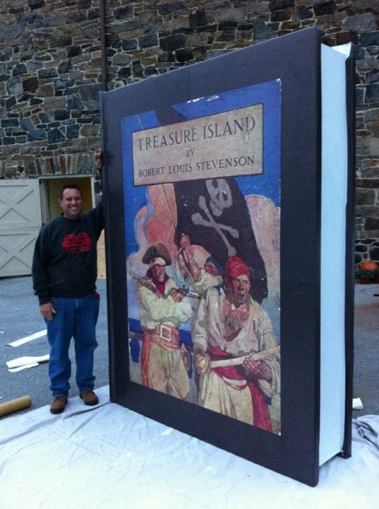 Treasure Island Large Book Replica Custom Work