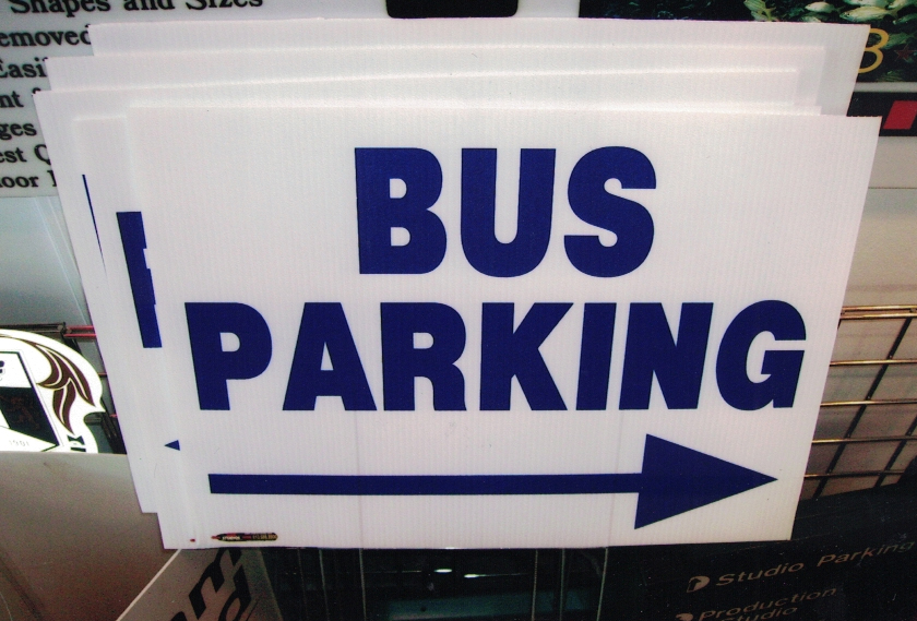Bus Parking Site Signs