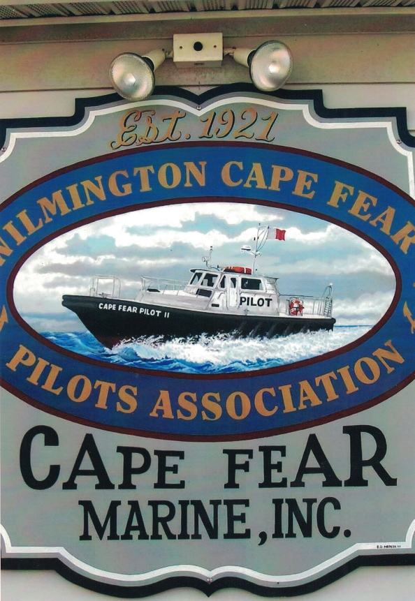 Cape Fear marine redwood Sign Studios
