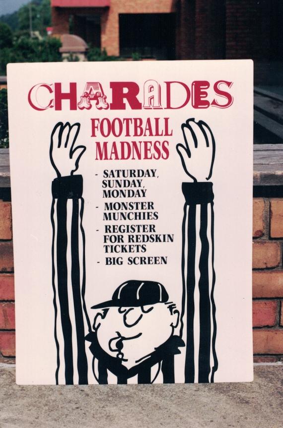 Charades restaurants Sign Studios