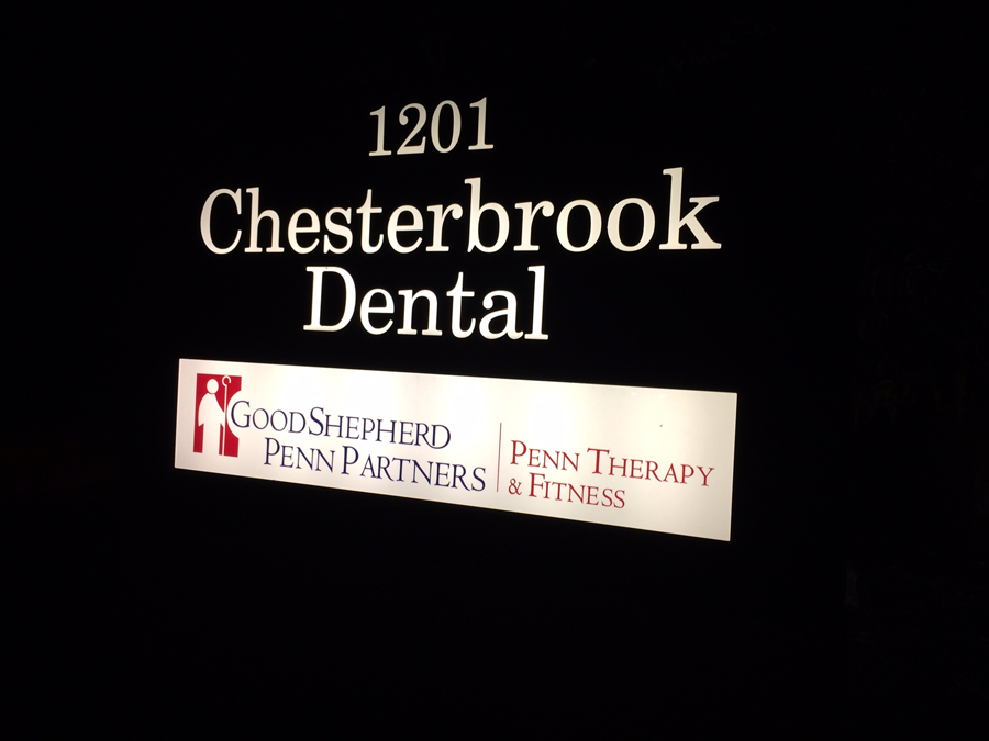 Chesterbrook Dental-illuminated cabinets Sign Studios